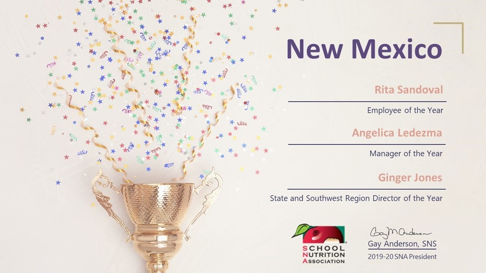 New Mexico SNA Recognizes 2020 School Nutrition Award Winners